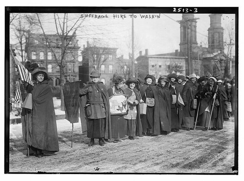 Suffrage hike to Wash'n  (LOC)