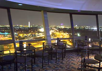 Doubletree crystal city skydome lounge at night flickr photo sharing for Hilton garden inn crystal city va