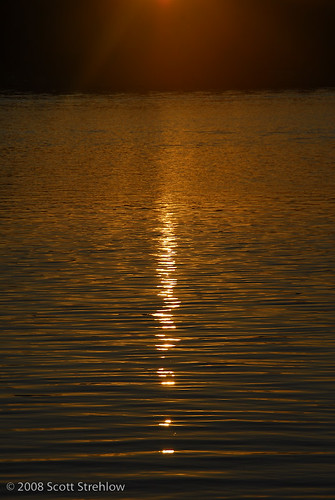 sunset lake water swim lakeelmo
