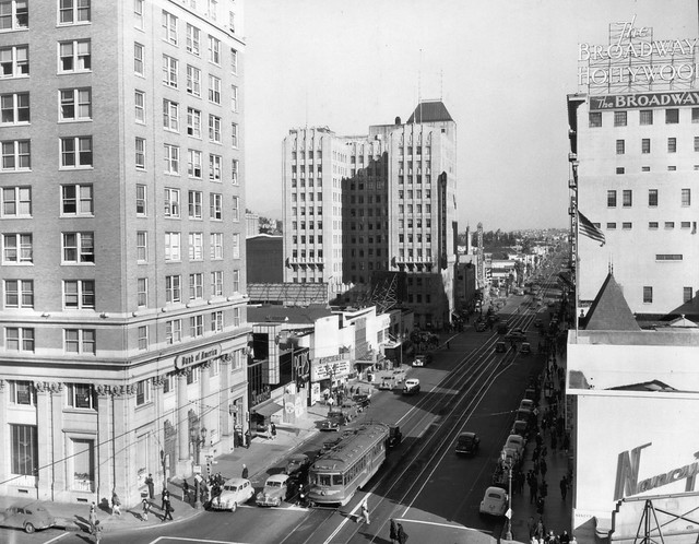 men s haircut los angeles los angeles ca looking east towards and vine in 1945 | 2729017272 cd59146d23 z