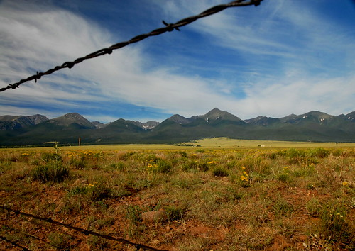 mountains landscape rockies wire colorado skies central rocky wildflowers range barbed sawtooth trailhead westcliffe