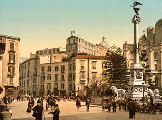Piazza of Martiri, Naples, Italy, ca. 1895