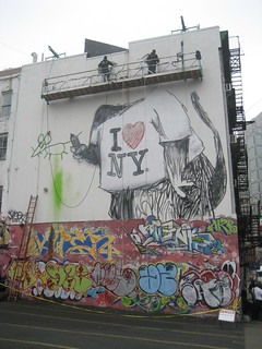 Banksy & Colossal Media's I Love NY Mural (In Progress)