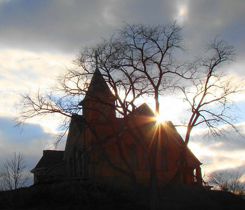 autumn sunset shadow church war pennsylvania union revolutionary presbyterian nyip crafton nyi perfectsunsetssunrisesandskys newyorkinstituteofphotography
