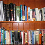 Holiday House bookshelf