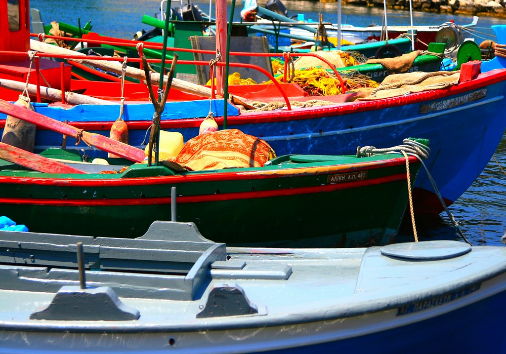 Row of fishing boats