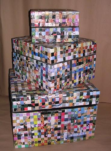 Reciclarte diciembre 2008 - Cajas forradas de papel ...
