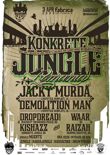 Konkrete Jungle Romania poster