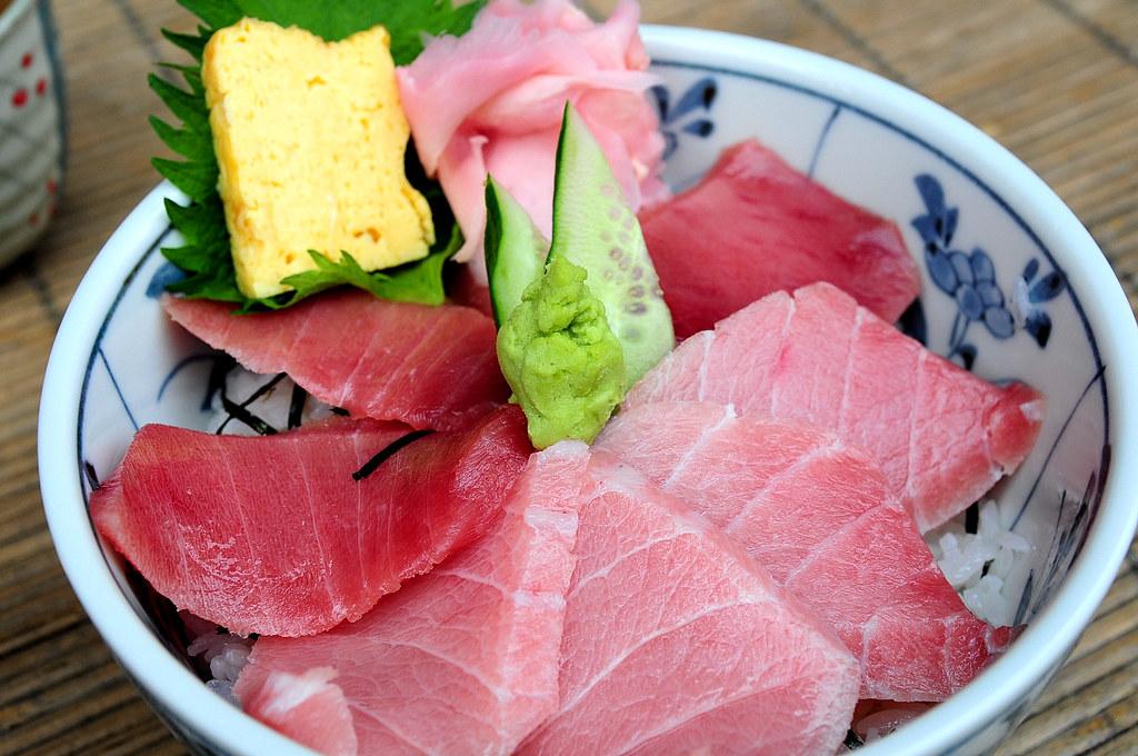 築地どんぶり市場-中鮪魚丼 中とろ丼 (1500)