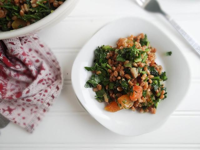 winter spelt berry salad
