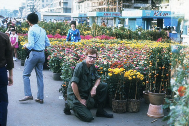 Saigon 1971 - Chợ hoa Xuân Tân Hợi