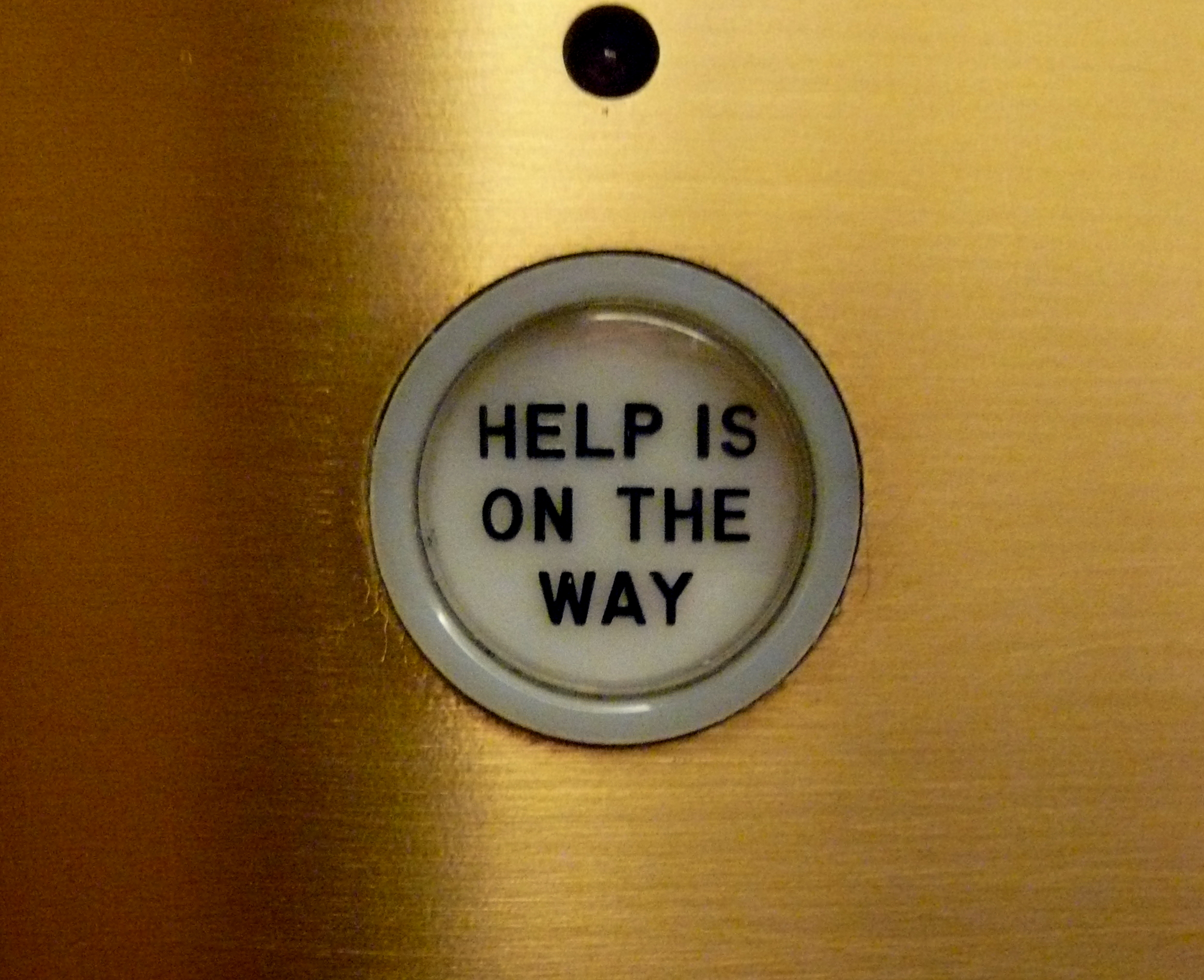 2496308570 6c552c24fe o Help is on the way, elevator, Chicago Tribune, Chicago, IL.JPG found on Flickr Funny Picture