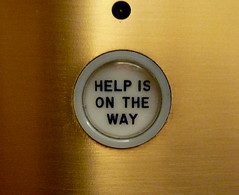 Help is on the way, elevator, Chicago Tribune, Chicago, IL.JPG