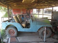 antique car(0.0), automobile(1.0), automotive exterior(1.0), wheel(1.0), vehicle(1.0), jeep cj(1.0), off-road vehicle(1.0), land vehicle(1.0), motor vehicle(1.0),