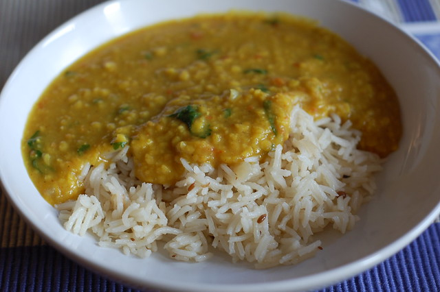 Dal and Pilau Rice