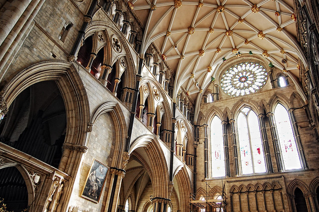 Cathedral 39 s south transept in york minster 39 s south for Rose window york minster