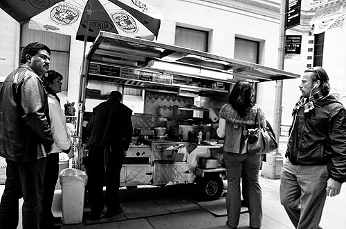 Downtown Lunch: Greek Street Meat Cart
