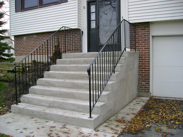 new front steps stoop and iron railings flickr photo