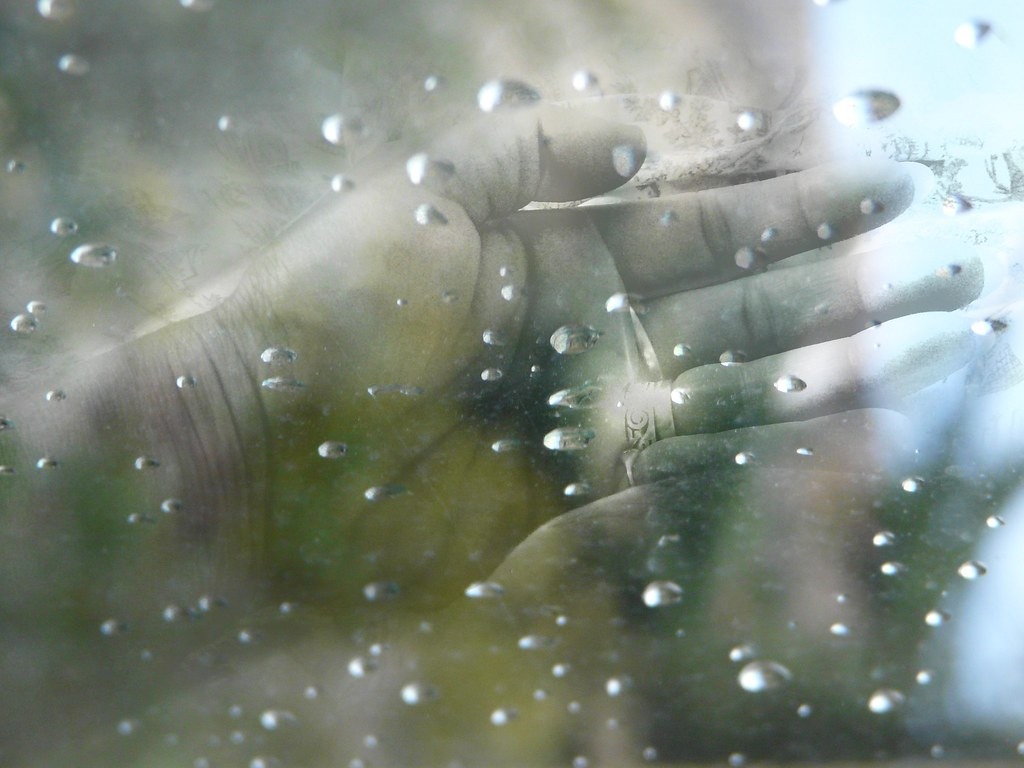 HAND, RAIN AND LIGHT