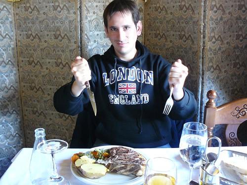 Comiendo en Don Pernil (Andorra)