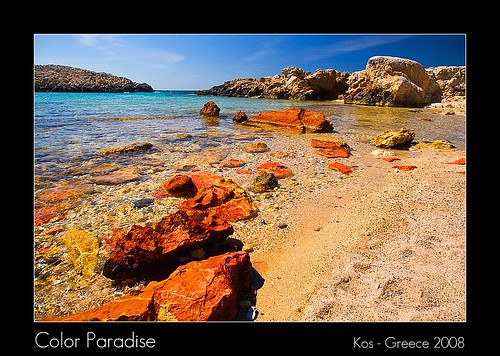 blue red sea sky seascape skye green beach water colors yellow clouds sunrise landscape island spring rocks crystal sony may vivid ile kos hills greece mai 2008 grece naturesfinest grecja a700 superaplus aplusphoto dslra700