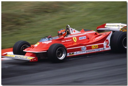 Gilles Villeneuve Ferrari 312T5 F1. 1980 British GP Brands Hatch.(Explore)