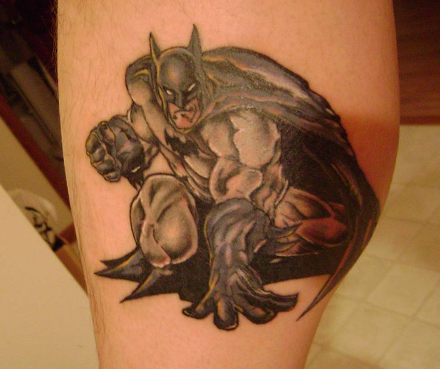 Batman Leg Tattoo (finished)
