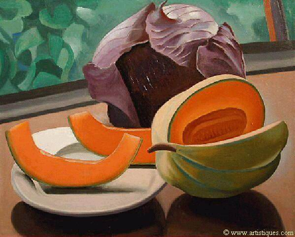 Old paint auguste herbin nature morte au melon on flickr for Auguste herbin