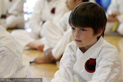 nick, about to learn the sai at a kobudo seminar