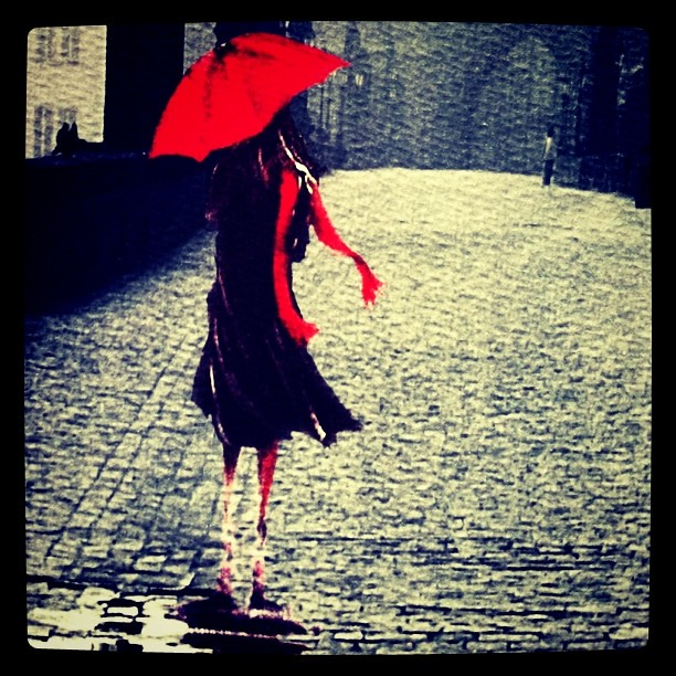 Red umbrella painting flickr photo sharing for Painting red umbrella