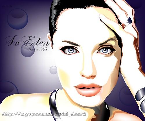 Angelina Jolie fan art วาดเพื่อโชว์ความชอบดารา ในเว็บไซต์