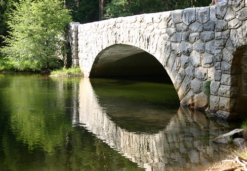 Stone bridge over the Merced River