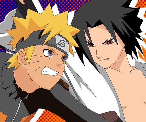 naruto fighting sasuke
