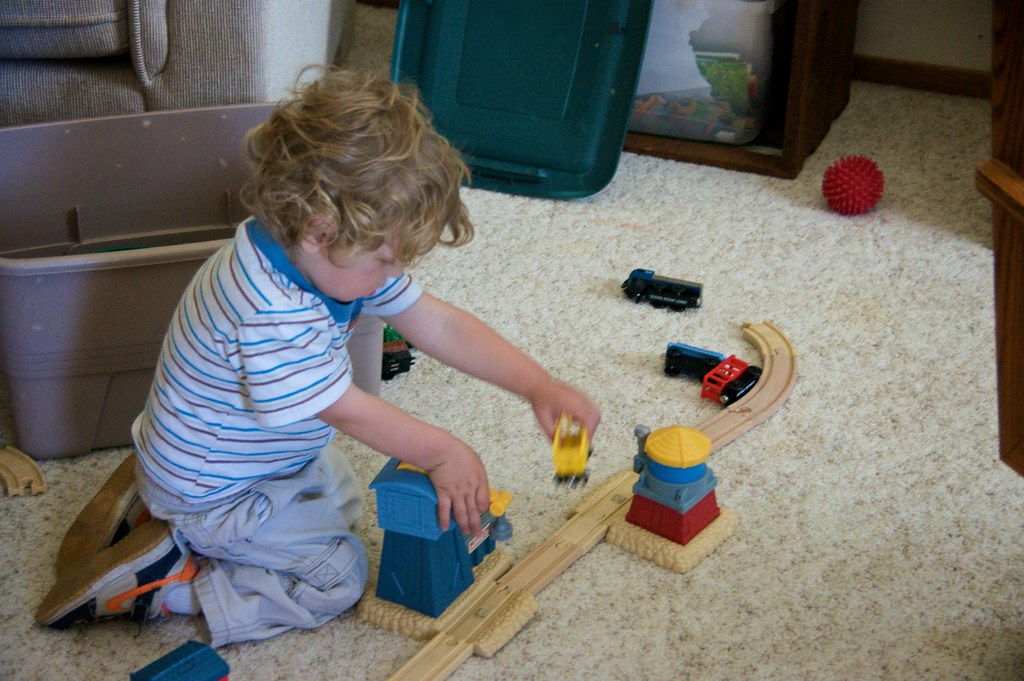 Lorenz with Thomas the Train