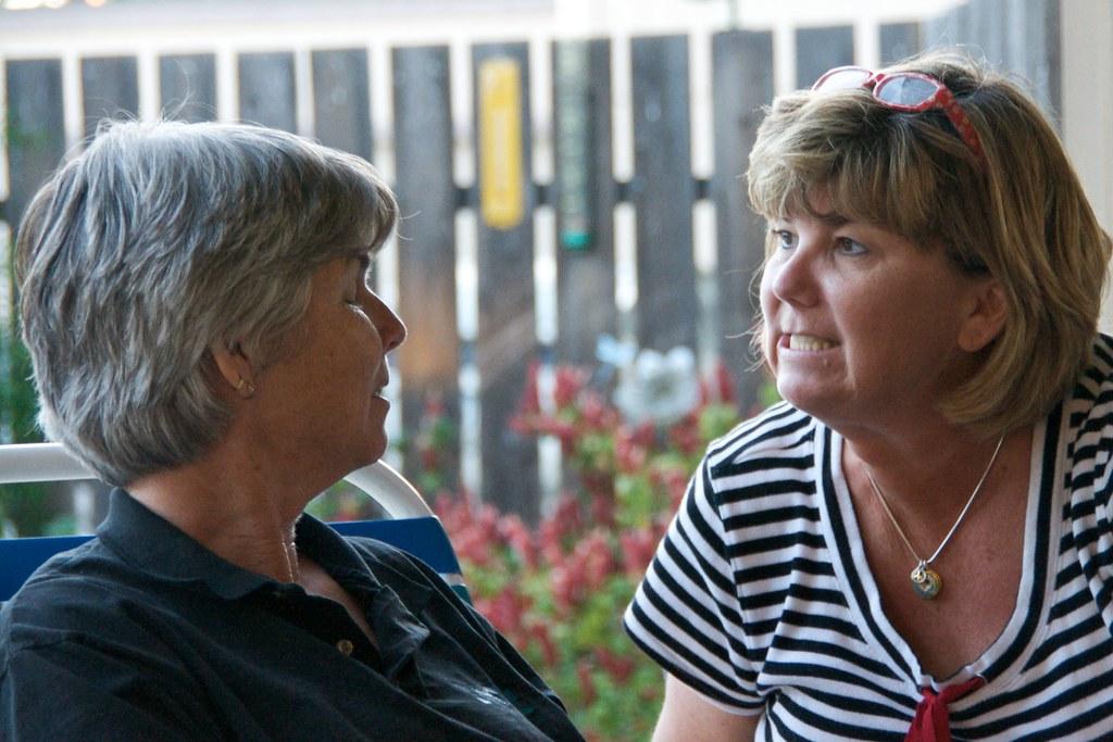 Catherine and Doris Conversing