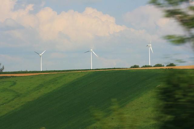 windmills, green