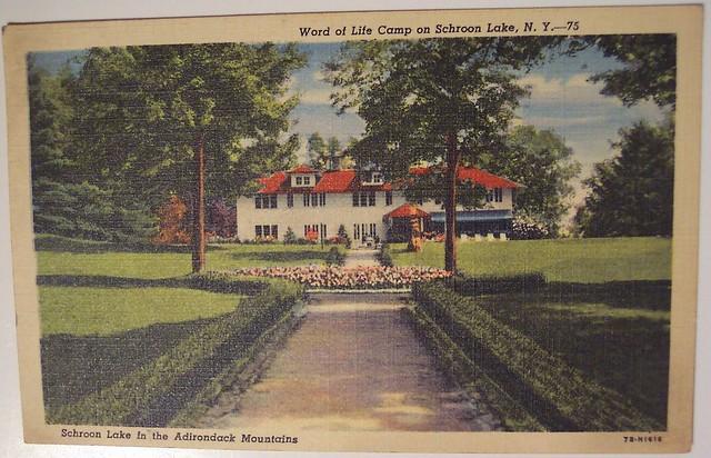 Vintage Postcard, Word of life camp on Schroon Lake, New Y ...