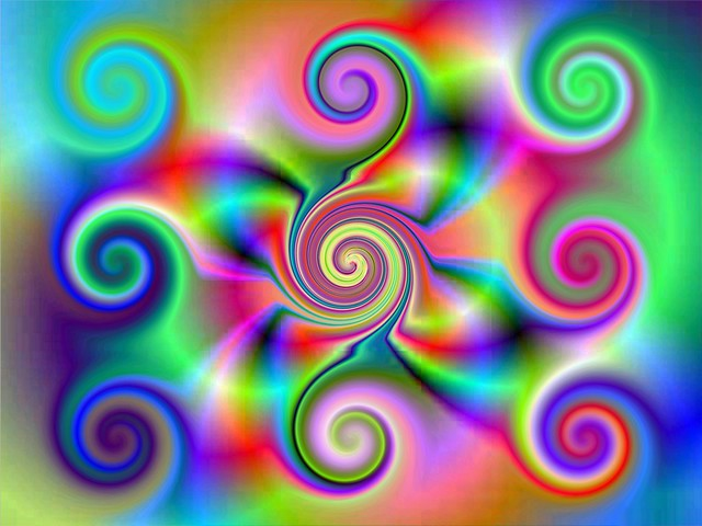 Nine dynamic energy spirals