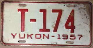YUKON 1957 TRUCK license plate