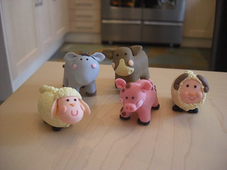 Spot the imposter!! (4 bought claydough, one sugar paste imposter!... but which one!?!)