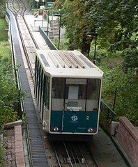 funicular(1.0), vehicle(1.0), tram(1.0), transport(1.0), public transport(1.0), passenger car(1.0), rolling stock(1.0), land vehicle(1.0), railroad car(1.0),