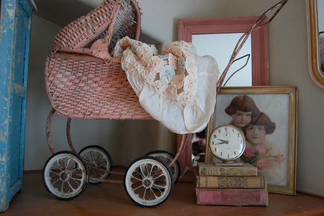 Cute antique child's stroller