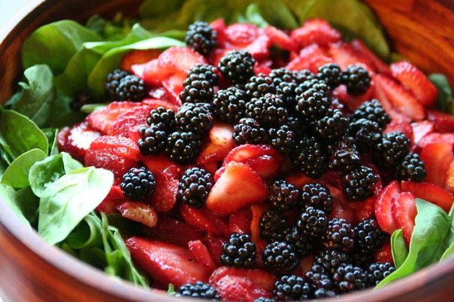 strawberry and blackberry spinach salad | Flickr - Photo Sharing!