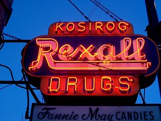 A vintage neon Rexall Drug Store sign. Chicago Illinois. January 2007. by Eddie from Chicago