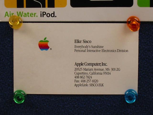 apple business card apple business card