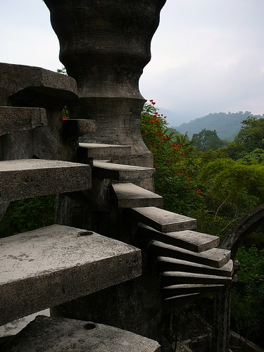 Scary stairs, Las Pozas