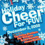 The poster announcing FUV's 4th annual Holiday Cheer benefit concert