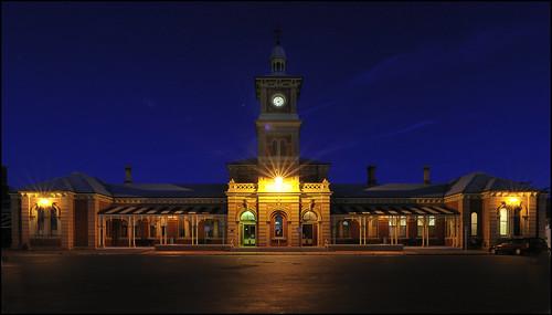 Albury Railway Station @ night