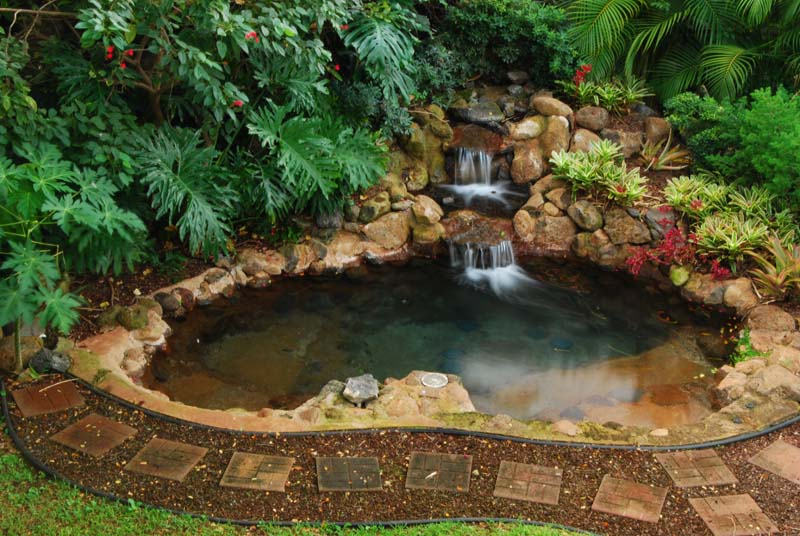 Backyard jacuzzi flickr photo sharing Small backyard waterfalls and ponds