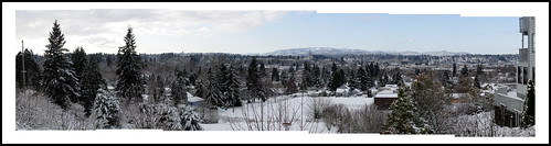 Snowy Oly Madison Scenic Park Panorama